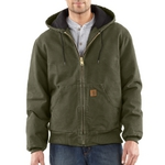 Carhartt Sandstone Active Jac/Quilted Flannel Lined J1300